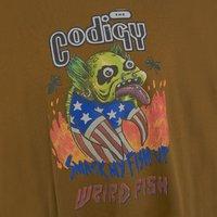 Weird Fish Codigy Artist T-Shirt Moss Green Size L