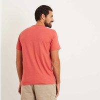 Weird Fish Bones Embroidered Logo Classic Plain T-Shirt Baked Apple Marl Size 3XL