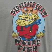 Weird Fish Desperate Clam Artist T-Shirt Steel Size S