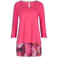 Weird Fish Isala Printed Longer Length T-Shirt Begonia Pink Size 16