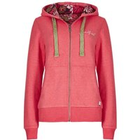 Weird Fish Taloga Print Lined Full Zip Hoodie Begonia Pink Size 12