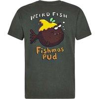 Weird Fish Fishmas Pud Artist T-Shirt Thyme Size S
