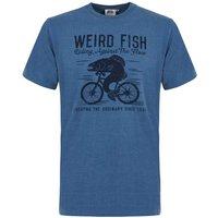 Weird Fish Fish Cycle Graphic T-Shirt China Blue Marl Size M