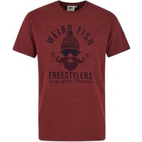 Weird Fish Freestylers Graphic T-Shirt Oxblood Red Marl Size 5XL