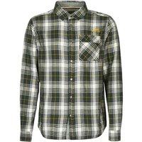 Weird Fish Wescott Long Sleeve Check Shirt Evergreen Size 2XL
