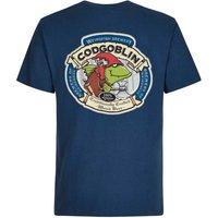 Weird Fish Cod Goblin Artist T-Shirt Ensign Blue Size XL