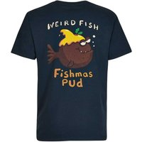 Weird Fish Fishmas Pud Artist T-Shirt Carbon Size 3XL