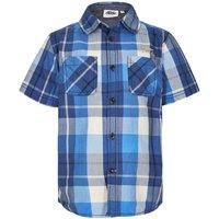 Weird Fish Pursie Light Weight Cotton Check Shirt Regatta Blue Size 5-6