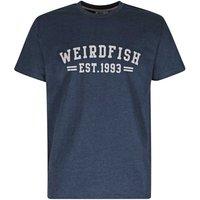 Weird Fish Bang Graphic Print T-Shirt Dark Navy Size L