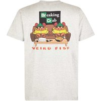 Weird Fish Breaking Crab Artist T-Shirt Grey Marl Size L