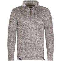 Weird Fish State 1/4 Zip Soft Knit Fleece Sweatshirt Artichoke Size XL