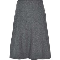 Weird Fish Malmo Printed Jersey Skirt Charcoal Marl Size 12