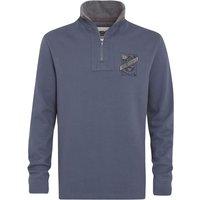 Weird Fish Tabernas ¼ Zip Sweatshirt Cadet Blue Size 5XL