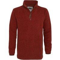 Weird Fish Totum ¼ Zip Soft Knit Fleece Chilli Red Size L