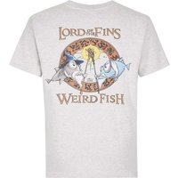Weird Fish Lord Of The Fins Cotton Printed Artist T-Shirt Grey Marl Size XL