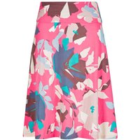 Weird Fish Malmo Printed Jersey Skirt Hot Pink Size 16