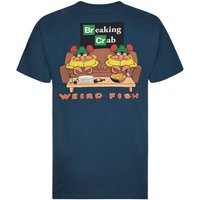 Weird Fish Breaking Crab Artist T-Shirt Moonlight Blue Size XL