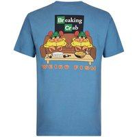 Weird Fish Breaking Crab Artist T-Shirt Washed Blue Size S