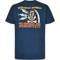 Weird Fish Hundred & Weirdy Artist T-Shirt Moonlight Blue Size S
