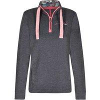 Weird Fish Bina 1/4 Zip Print Lined Sweatshirt Navy Size 18
