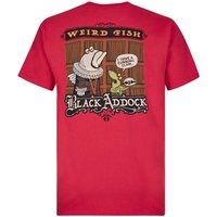 Weird Fish Blackaddock Artist T-Shirt Barberry Red Size S
