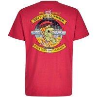 Weird Fish Cod & Chips Artist T-Shirt Barberry Red Size M