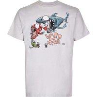 Weird Fish Fish Eat Fish Artist T-Shirt Soft Grey Size 4XL