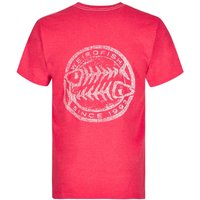 Weird Fish Heritage Surf Graphic Print T-Shirt Barberry Red Marl Size 5XL