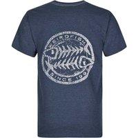 Weird Fish Heritage Surf Graphic Print T-Shirt Moonlight Blue Marl Size L