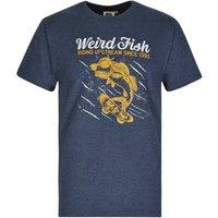 Weird Fish Skatefish Graphic Print T-Shirt Moonlight Blue Marl Size XL