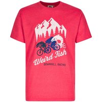 Weird Fish Downhill Racing Graphic Print T-Shirt Barberry Red Marl Size 2XL