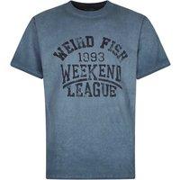 Weird Fish Weekend League Graphic Print T-Shirt Moonlight Blue Size S