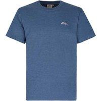 Weird Fish Bones Embroidered Logo Classic Plain T-Shirt Vintage Blue Marl Size S