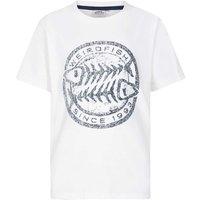 Weird Fish Heritage Surf Graphic Print T-Shirt Snow White Marl Size 9-10