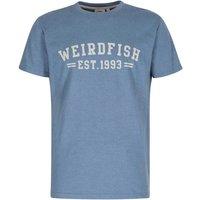 Weird Fish Bang Graphic Print T-Shirt Washed Blue Marl Size L