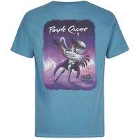 Weird Fish Purple Crane Artist T-Shirt Washed Blue Size 3XL