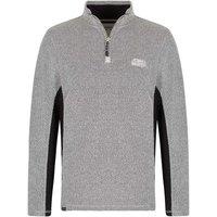 Weird Fish Oyron 1/4 Zip Technical Birdseye Sweatshirt Soft Grey Size M