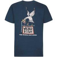 Weird Fish Seagull Has Landed Artist T-Shirt Moonlight Blue Size XL