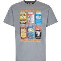 Weird Fish 6 Pack Beer Cans Artist T-Shirt Grey Blue Size S