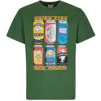 Weird Fish 6 Pack Beer Cans Artist T-Shirt Olive Size 5XL
