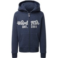 Weird Fish Row Applique Hoodie Dark Denim Size 32