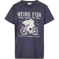Weird Fish Fish Cycle Graphic Print T-Shirt Blueberry Marl Size 7-8