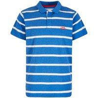 Weird Fish Turing Striped Polo Shirt Cobolt Blue Size 2XL