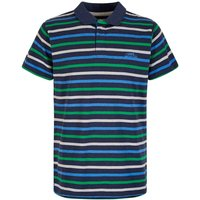Weird Fish Anning Striped Polo Shirt Black Size S