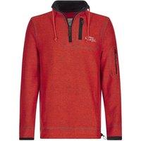 Weird Fish Parkway 1/4 Zip Technical Macaroni Sweatshirt Dark Red Size 2XL