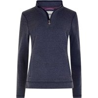 Weird Fish Margot 1/4 Zip Soft Knit Top Dark Navy Size 20