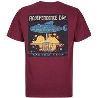 Weird Fish Findependence Artist T-Shirt Dark Wine Size S