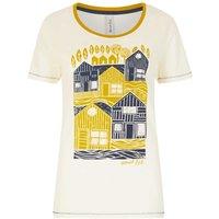 Weird Fish Orion Graphic Print T-Shirt Light Cream Size 14