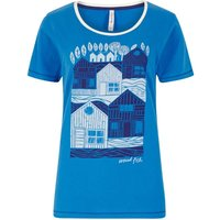 Weird Fish Orion Graphic Print T-Shirt Aster Blue Size 12