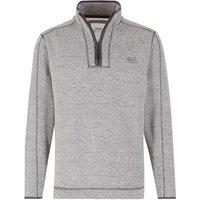 Weird Fish Talas Plain 1/4 Zip Soft Knit Fleece Sweatshirt Frost Grey Size M